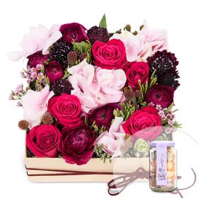 꽃상자+사탕 140
